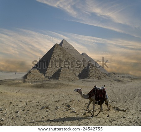Pyramids fantasy - stock photo