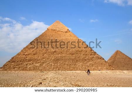 Pyramids of giza - stock photo