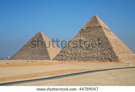 Pyramids of Giza - stock photo