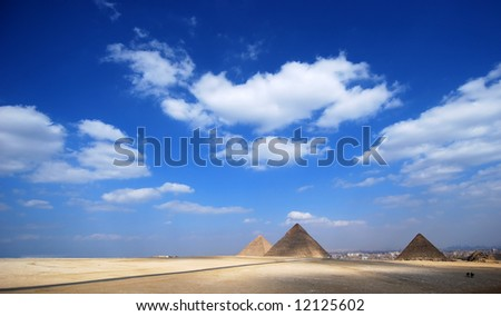 Pyramids - tombs of the pharaohs in Giza, Egypt
