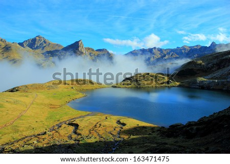 Pyrenees mountains in autumn ( France, Spain)