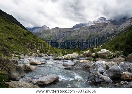 Pyrenees river valley