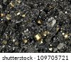Pyrite and galena absorbed by quartz a beautiful piece - stock photo
