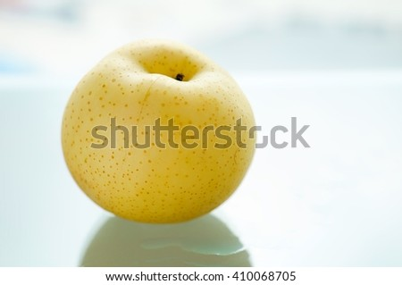 Pyrus pyrifolia. Chinese pear. - stock photo