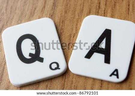 Q & A - stock photo