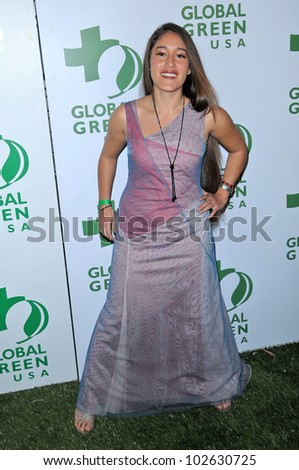 Q'orianka Kilcher at the 7th Annual Global Green USA's Pre-Oscar Party, Avalon, Hollywood, CA. 03-03-10