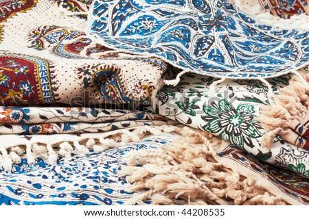 Qalamkar - printed calico, traditional persian (iranian) handicraft.