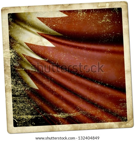 Qatar Grunge sticker - stock photo