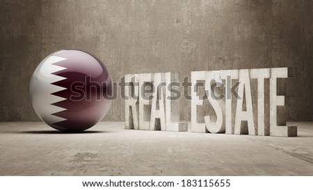 Qatar High Resolution Real Estate Concept - stock photo