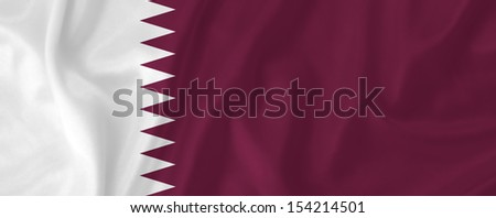 Qatar waving flag - stock photo
