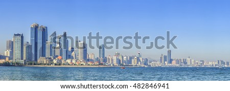 Qingdao is a beautiful coastal city.