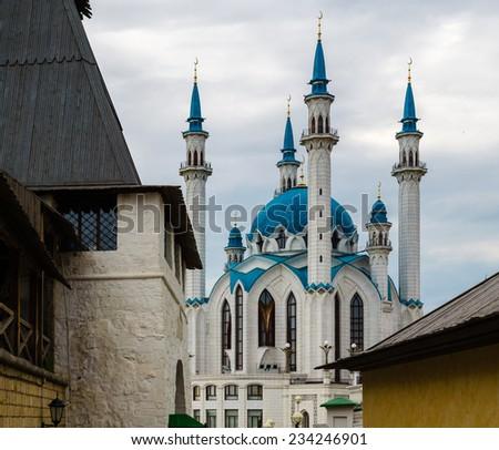 Qolsharif Mosque in Kazan Kremlin, Russia - stock photo