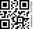 qr and bbm code - stock photo