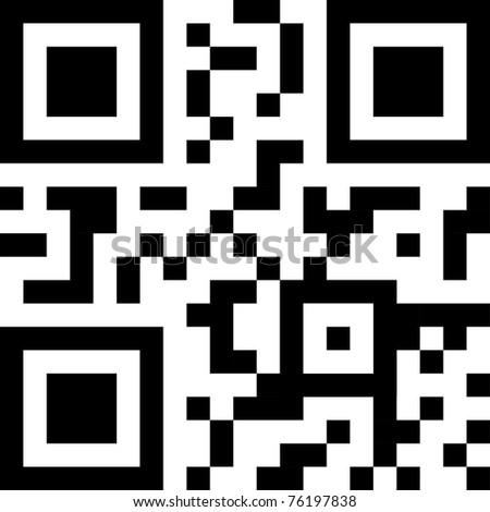 qr and bbm code - stock photo