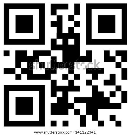 Qr code  - stock photo