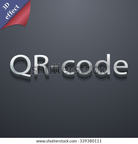 Qr code icon symbol. 3D style. Trendy, modern design with space for your text illustration. Rastrized copy - stock photo