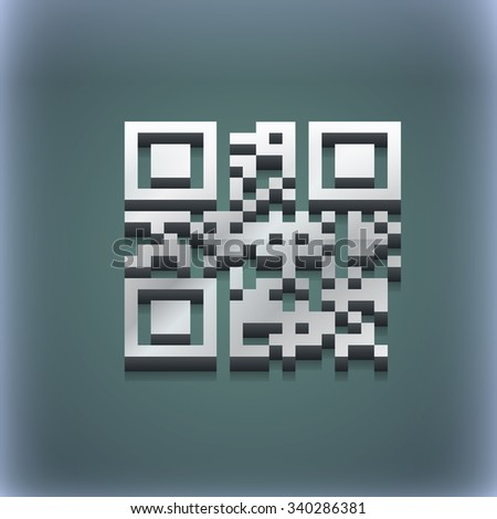 Qr code icon symbol. 3D style. Trendy, modern design with space for your text illustration. Raster version