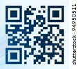 QR code with a texture which simulates a digital scanning - stock photo