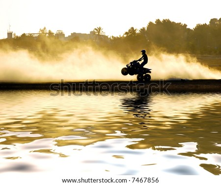 quad motorcycle - stock photo
