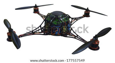Quadrocopter isolated on white
