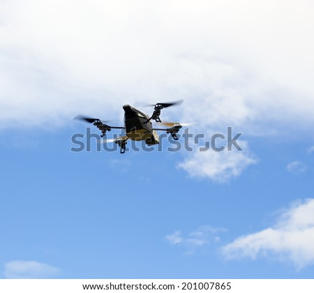 Quadrocopter with camera in the sky
