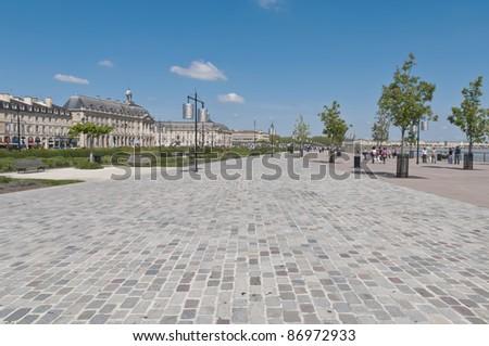 Quai de la Douane located at Bordeaux, France - stock photo
