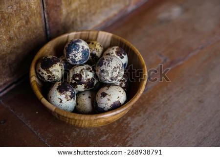 quail eggs - stock photo