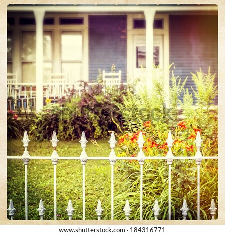 Quaint Victorian Architecture, instagram style - stock photo