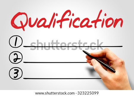 Qualification blank list, education concept - stock photo