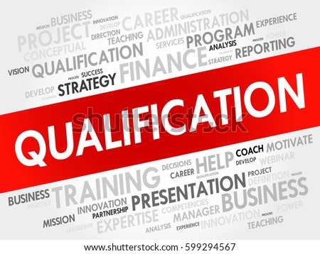 qualification word cloud business concept stock illustration 599294567 shutterstock