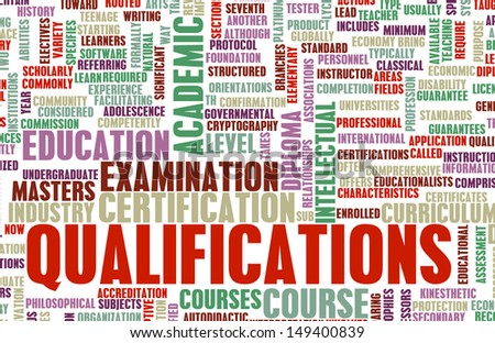 Qualifications in Business and Education as Art - stock photo