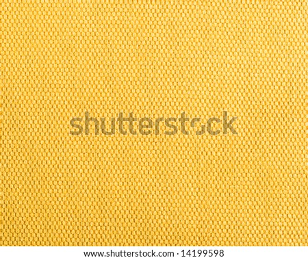 Qualitative yellow fabric texture. Abstract background. Close up. - stock photo