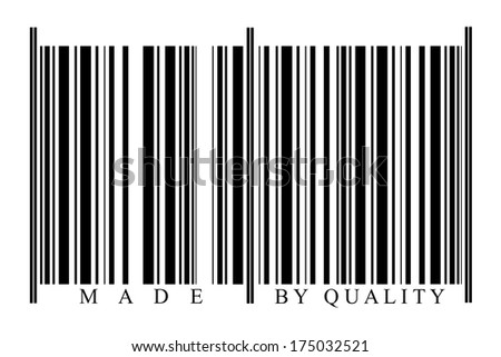 Quality Barcode on white background