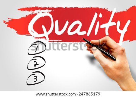 QUALITY blank list, business concept - stock photo