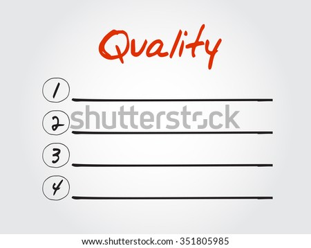 Quality blank list, business concept background - stock photo