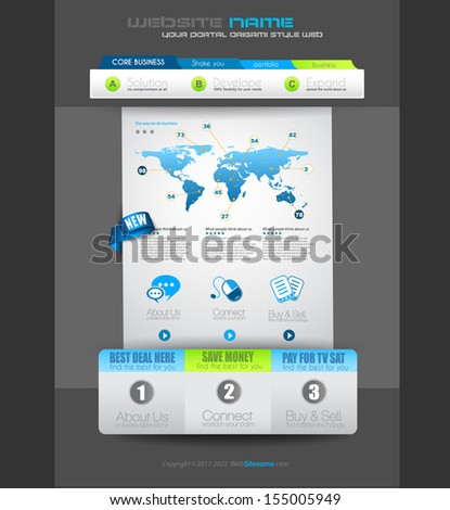 Quality clean web elements for blog and sites. Icons, header, carousel, infographics and a lot of icons. - stock photo