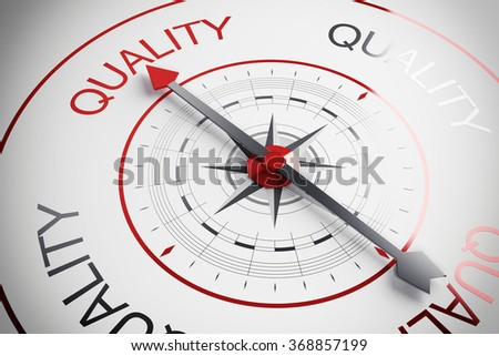 Quality compass - stock photo