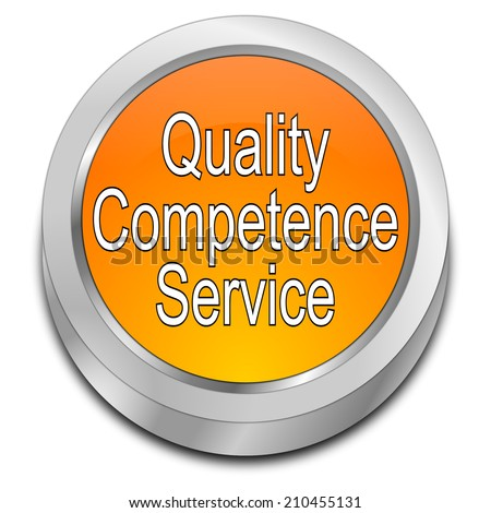 Quality Competence Service Button - stock photo