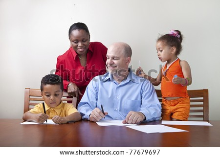 Quality family time - stock photo