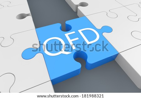 Quality Function Deployment - puzzle 3d render illustration - stock photo