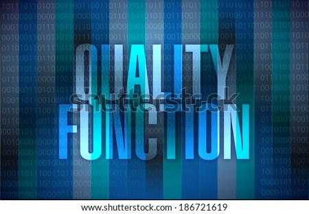 quality function sign illustration design over a binary background - stock photo