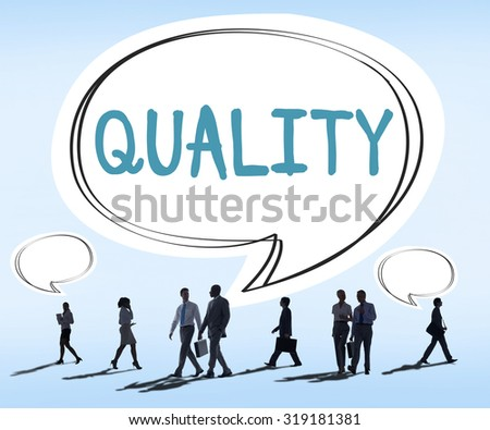 Quality Guarantee Grade Excellence Level Concept - stock photo
