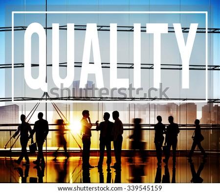 Quality Guarantee Grade Excellence Level Concept - stock photo