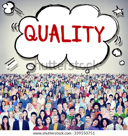 Quality Guarantee Value Grade Satisfaction Concept - stock photo