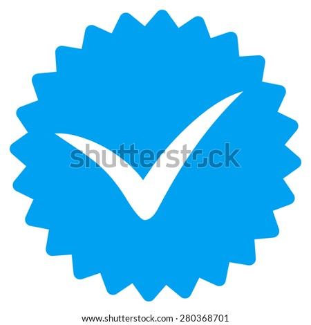 Quality icon from Competition & Success Bicolor Icon Set. This isolated flat symbol uses modern corporation light blue and gray colors. - stock photo