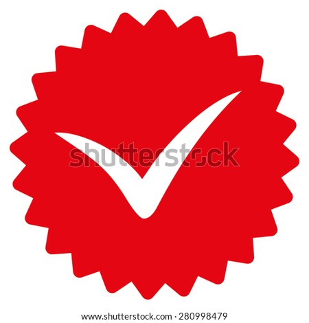 Quality icon from Competition & Success Bicolor Icon Set. This isolated flat symbol uses red color. - stock photo