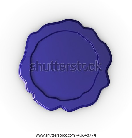 Quality illustration of a blank wax seal, ready for your own design or text. - stock photo