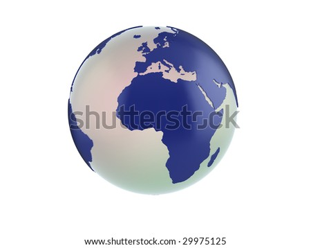Quality illustration of a 3d globe. See my portfolio for variations and different views.