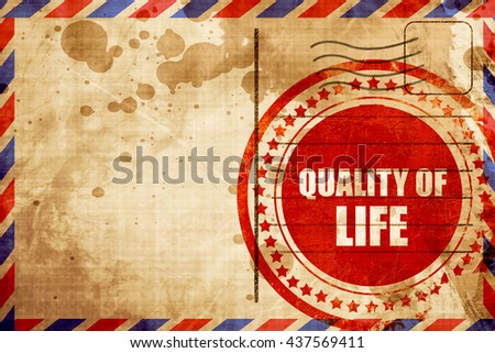 quality of life - stock photo
