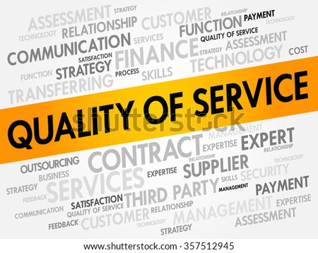 Quality of Service word cloud, business concept - stock photo